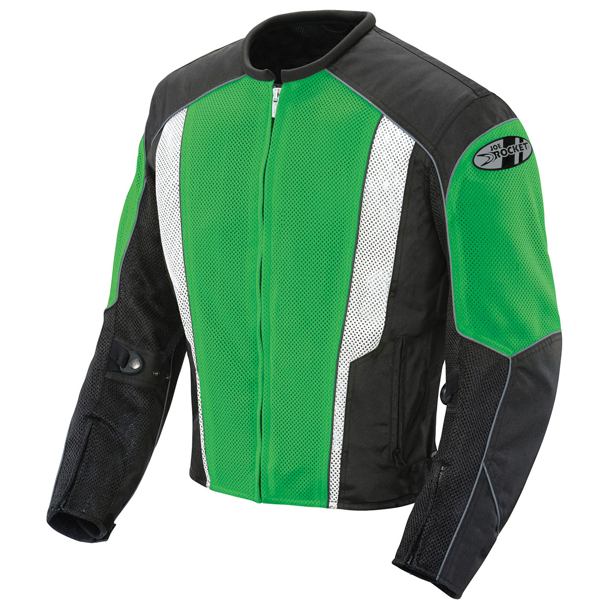 Joe Rocket Men's Phoenix 5.0 Green/Black Mesh Jacket