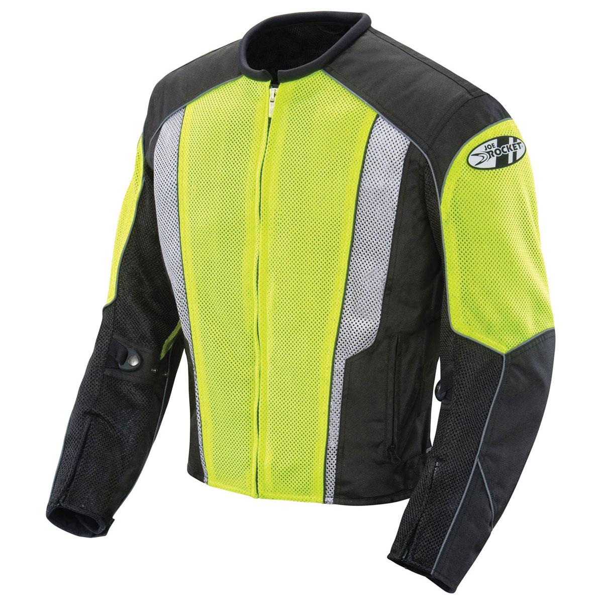 Joe Rocket Men's Phoenix 5.0 Neon/Black Mesh Jacket