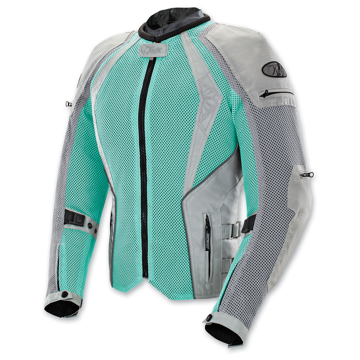 Joe Rocket Women's Cleo Elite Mesh Mint/Silver Jacket