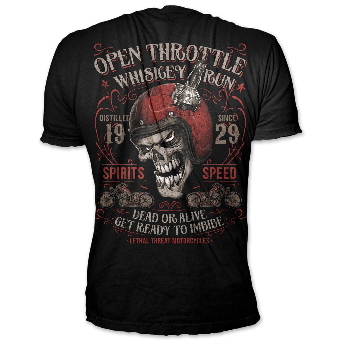 Lethal Threat Men's Open Throttle Black T-Shirt