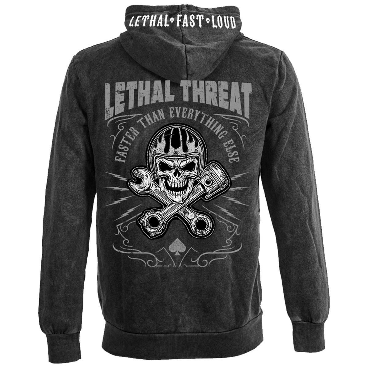 Lethal Threat Men's Faster Skull Black Hoodie
