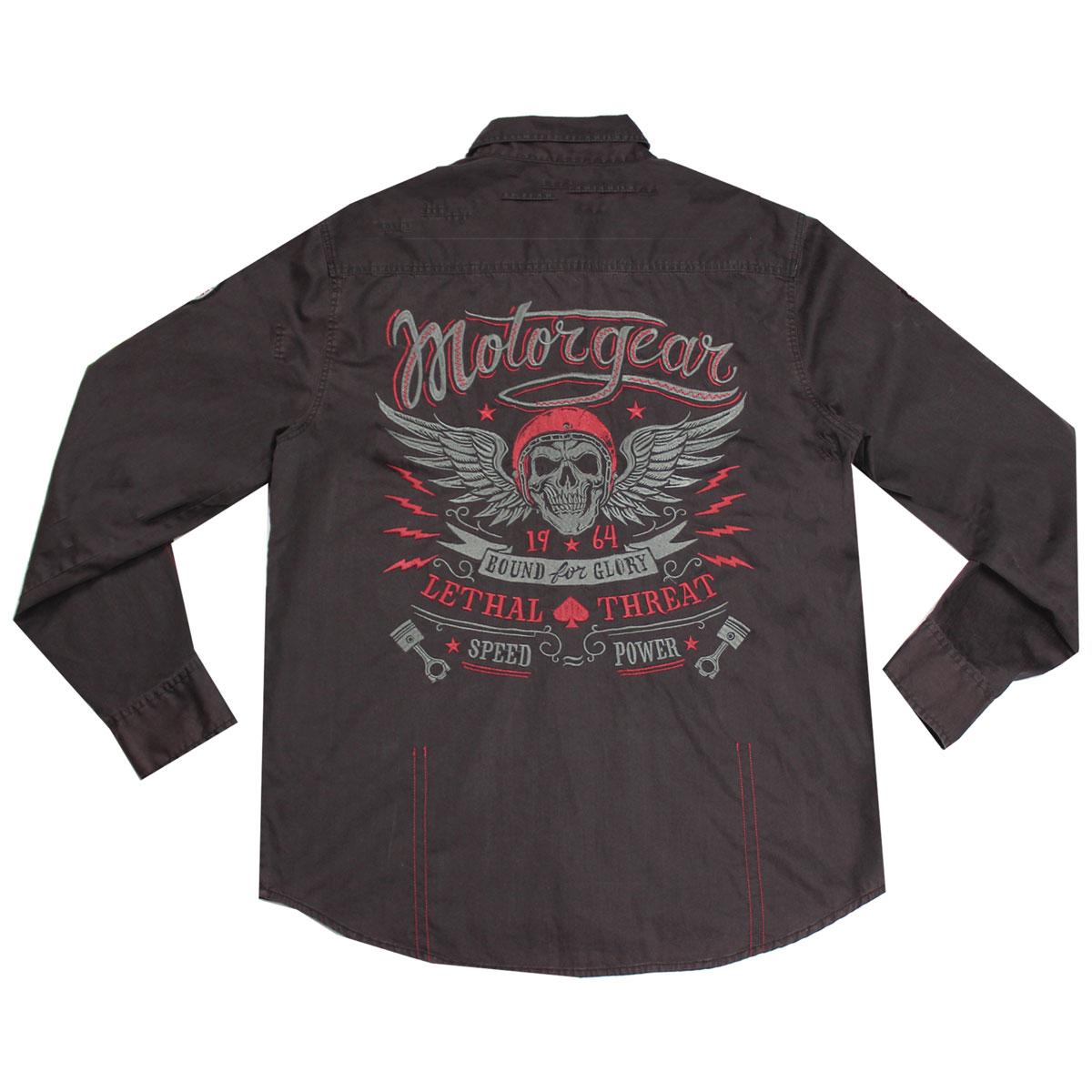 Lethal Threat Men's Speed Power Black Button Down Shirt