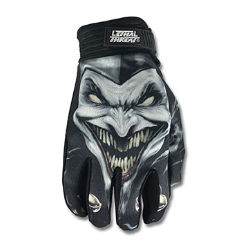 Lethal Threat Men's Jester Black Gloves