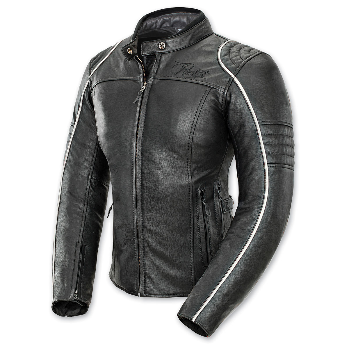 Joe Rocket Women's Lira Black/White Leather Jacket