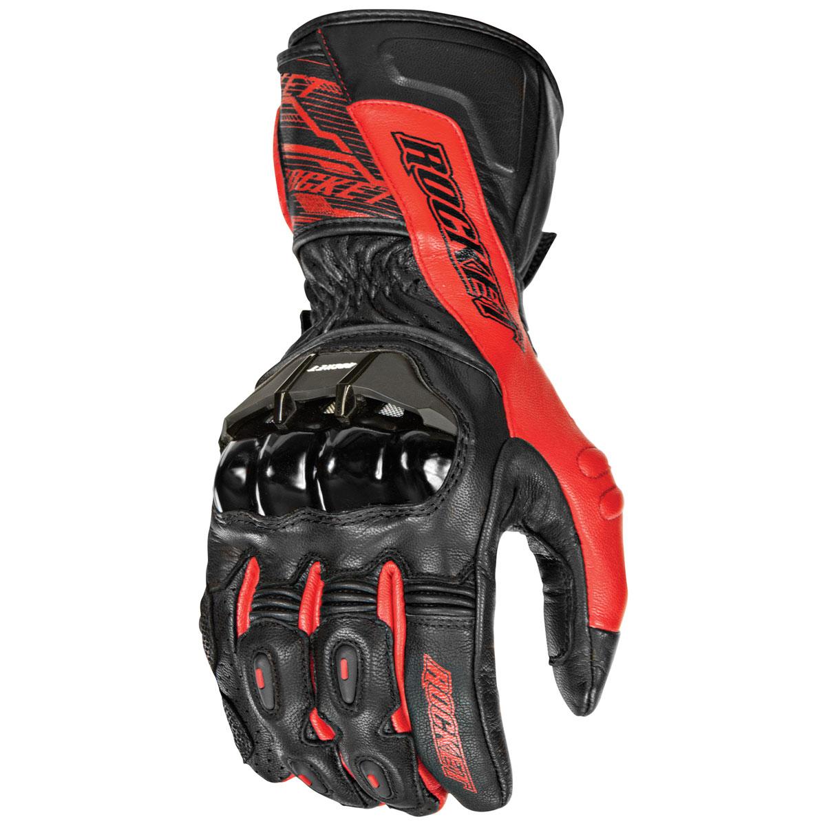 Joe Rocket Men's Flexium TX Red Gloves