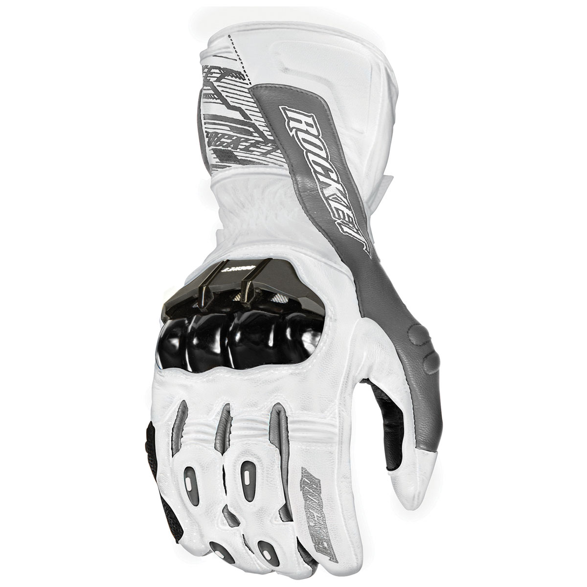Joe Rocket Men's Flexium TX White Gloves