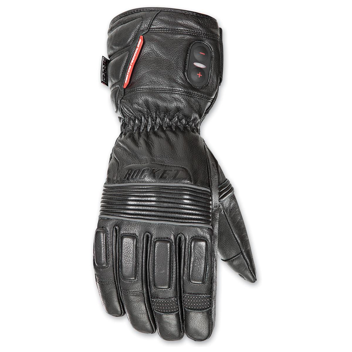 Joe Rocket Men's Rocker Burner Leather Heated Black Gloves