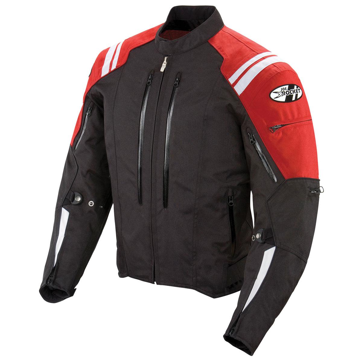 Joe Rocket Men's Atomic 4.0 Waterproof Red/Black Jacket