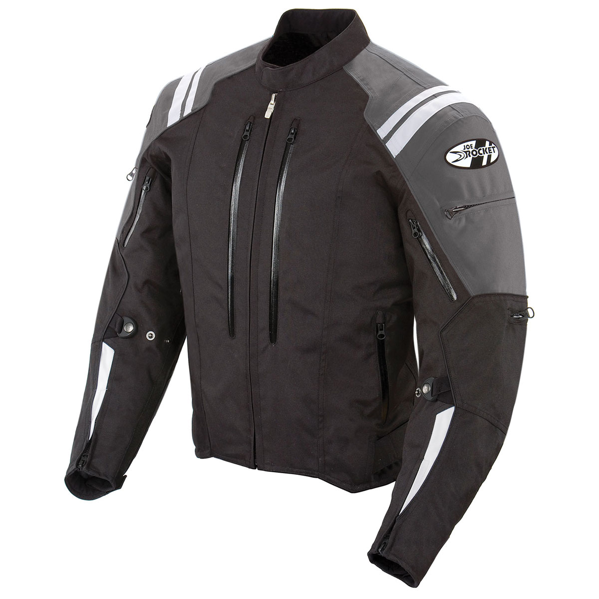 Joe Rocket Men's Atomic 4.0 Waterproof Gray/Black Jacket