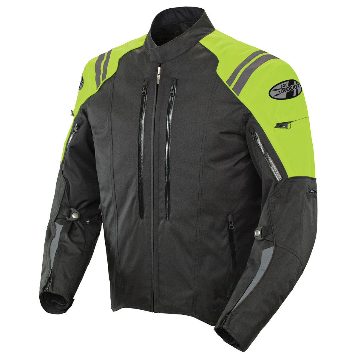 Joe Rocket Men's Atomic 4.0 Waterproof Neon/Black Jacket