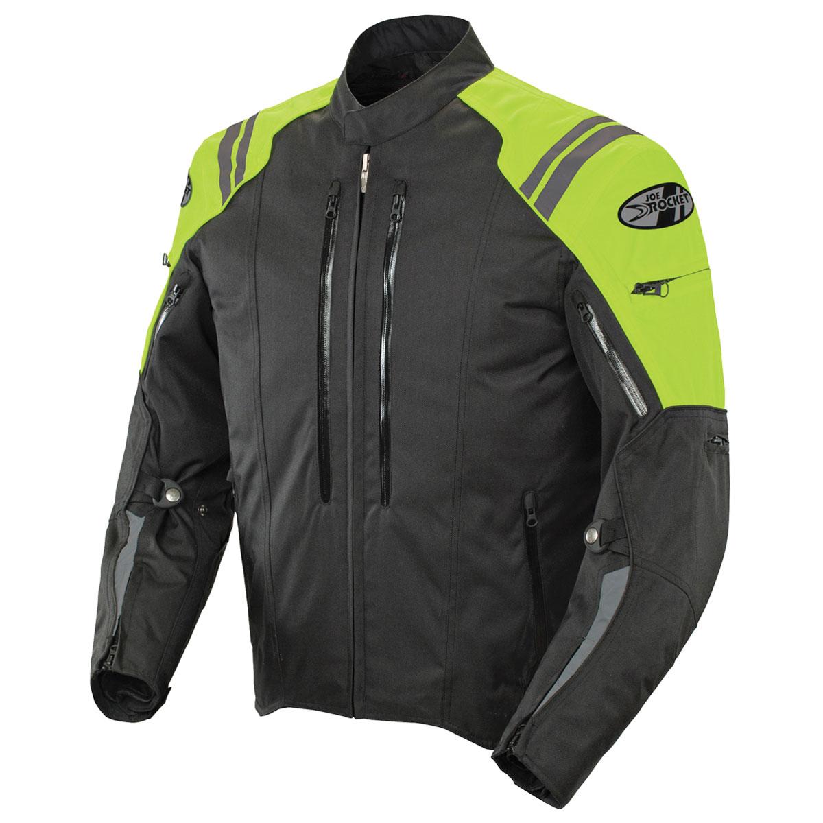 Joe Rocket Men's Atomic 4.0 Waterproof Neon/Black Jacket