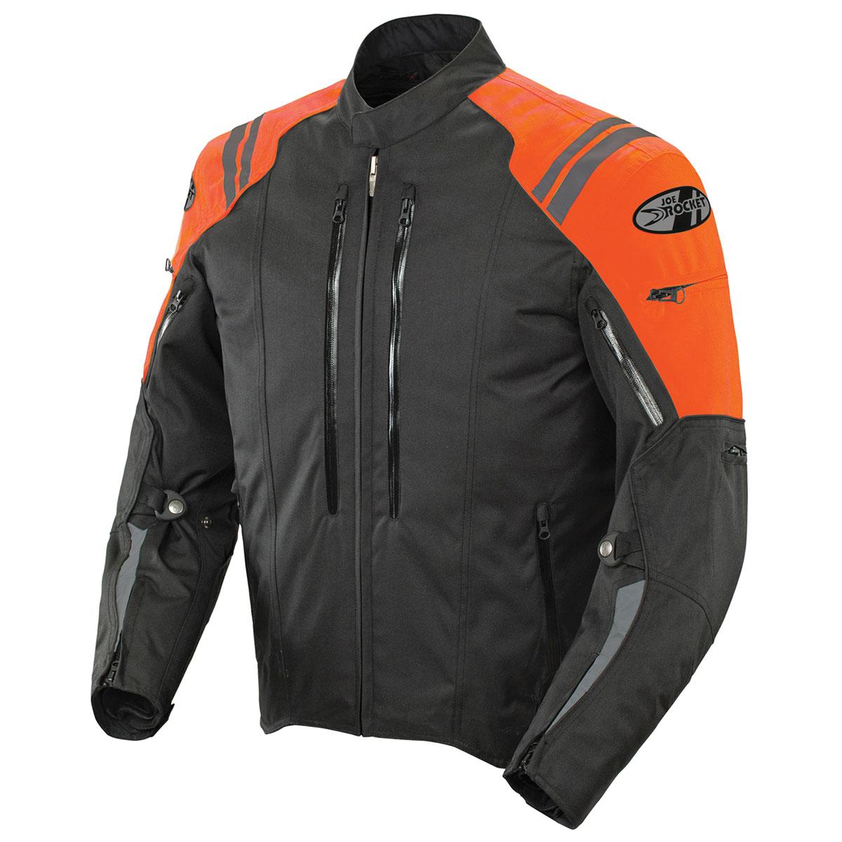 Joe Rocket Men's Atomic 4.0 Waterproof Orange/Black Jacket