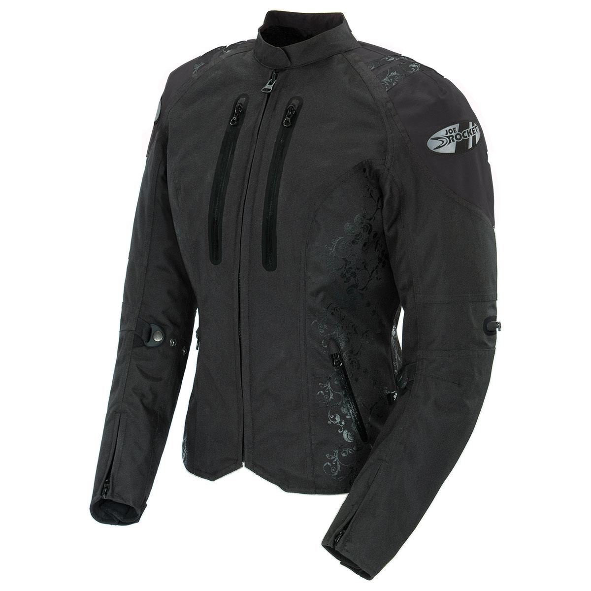 Joe Rocket Women's Atomic 4.0 Waterproof Black Jacket