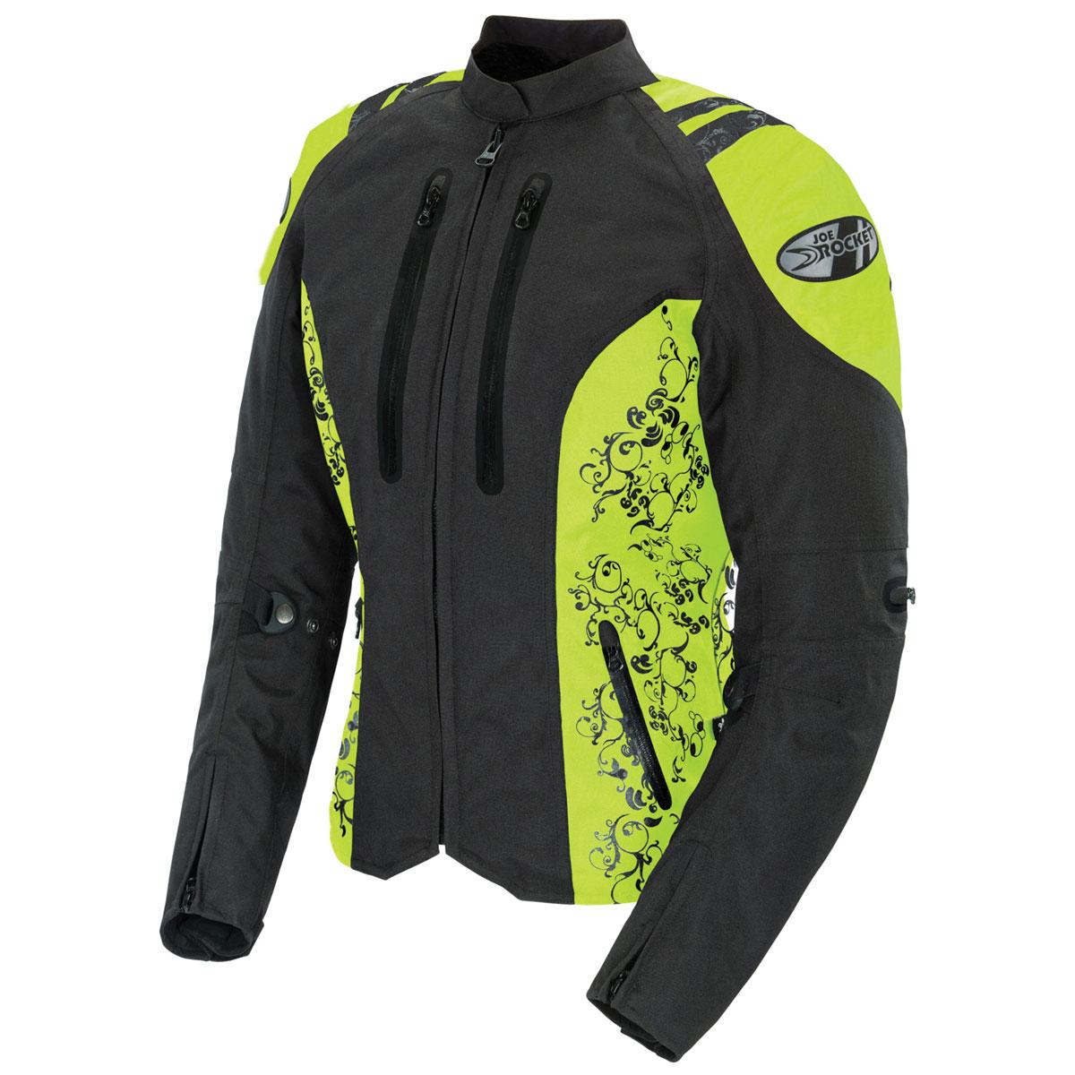 Joe Rocket Women's Atomic 4.0 Waterproof Neon/Black Jacket