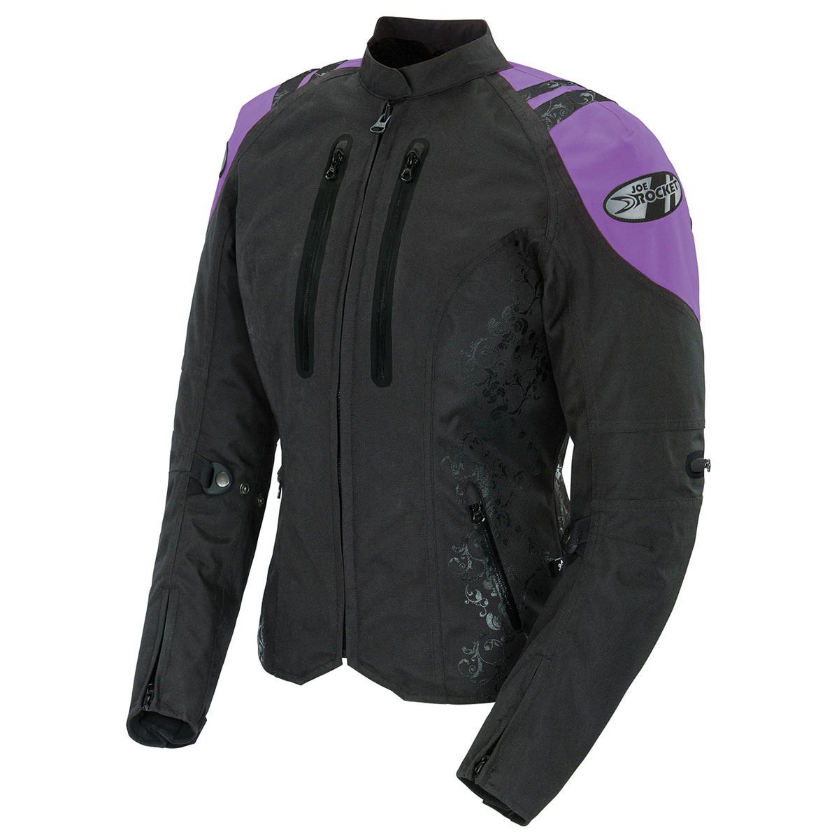 Joe Rocket Women's Atomic 4.0 Waterproof Purple/Black Jacket