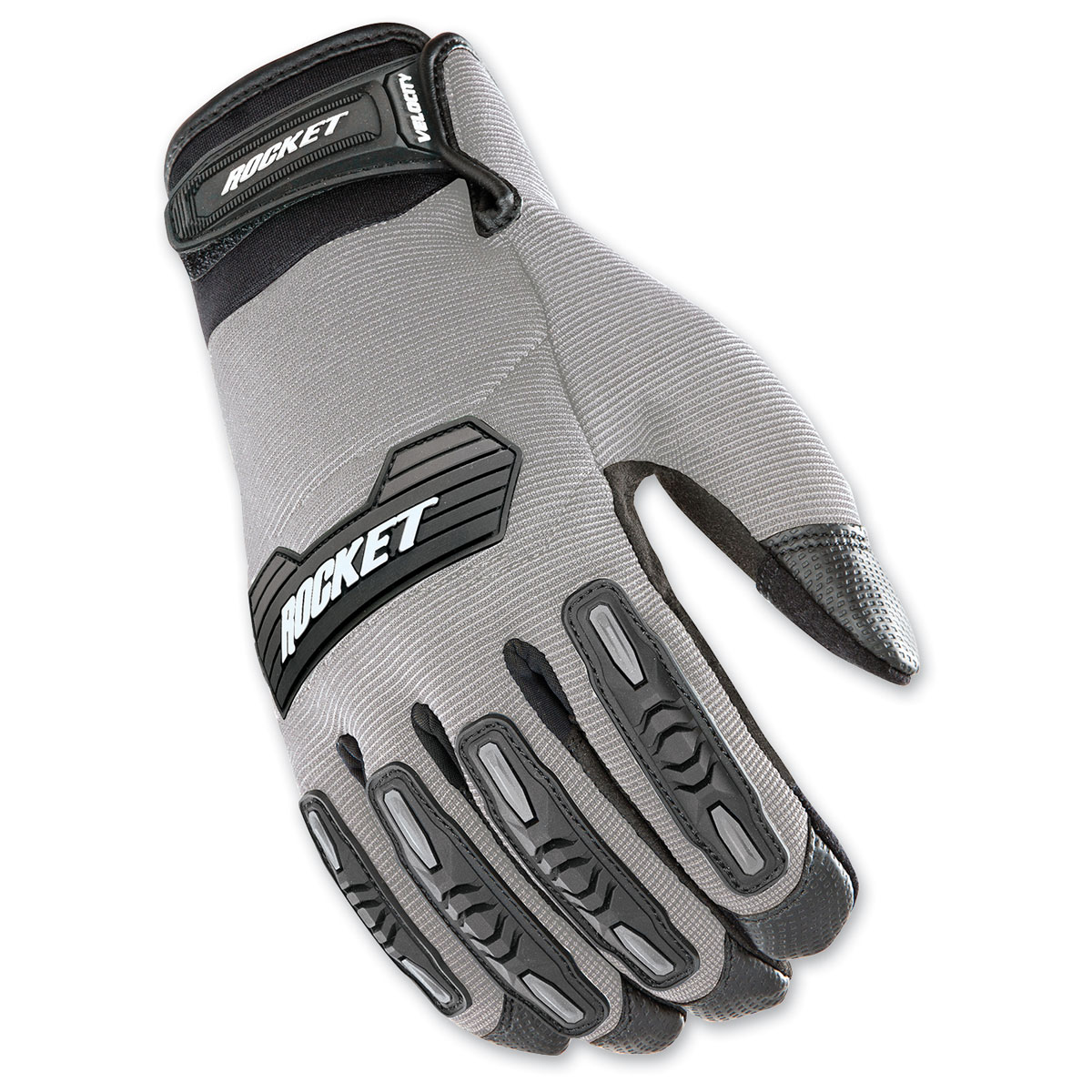 Joe Rocket Men's Velocity 2.0 Silver/Black Gloves