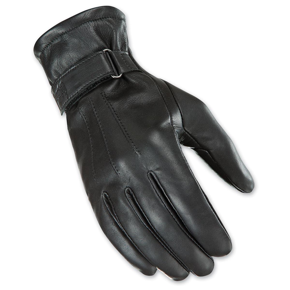 Joe Rocket Women's Jet Touch Screen Black Leather Gloves