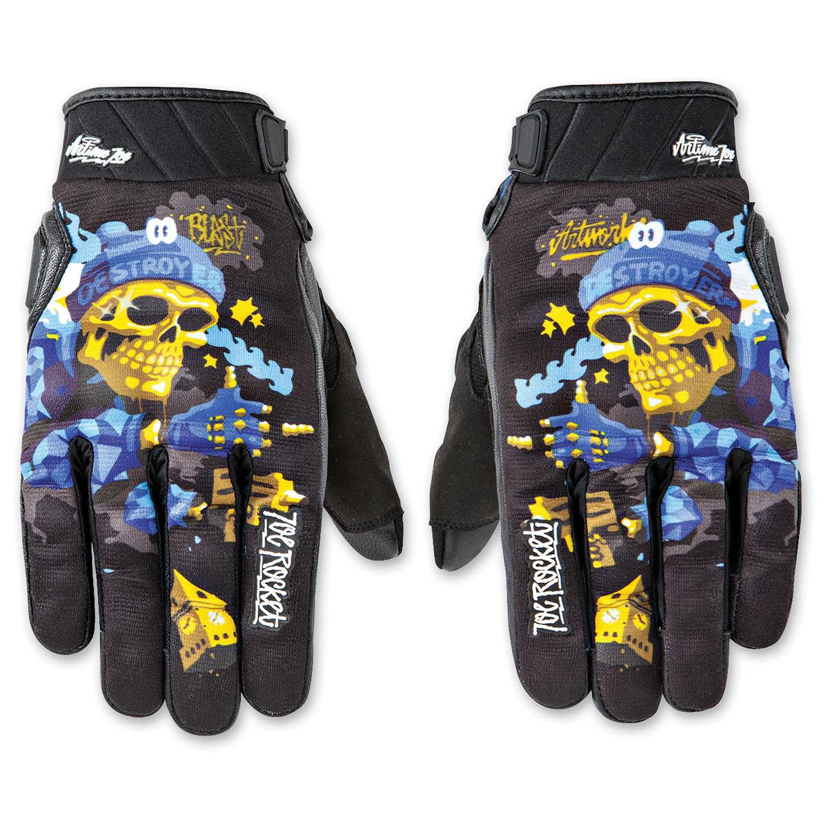 Joe Rocket Men's Artime Joe Destroy Blue Gloves