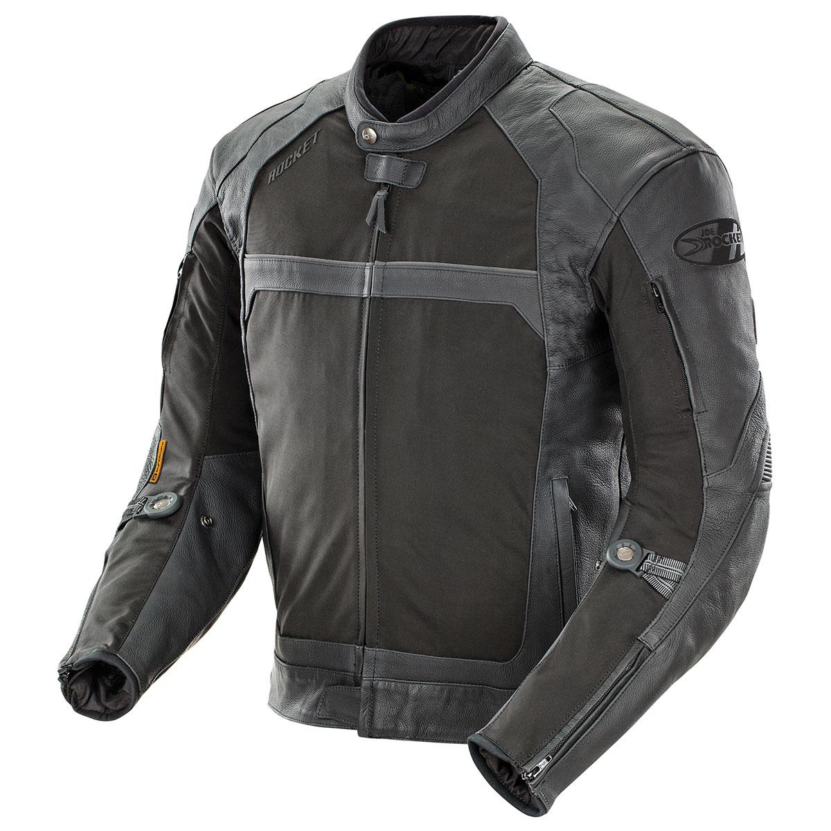Joe Rocket Men's Syndicate Nylon/Leather Black Jacket