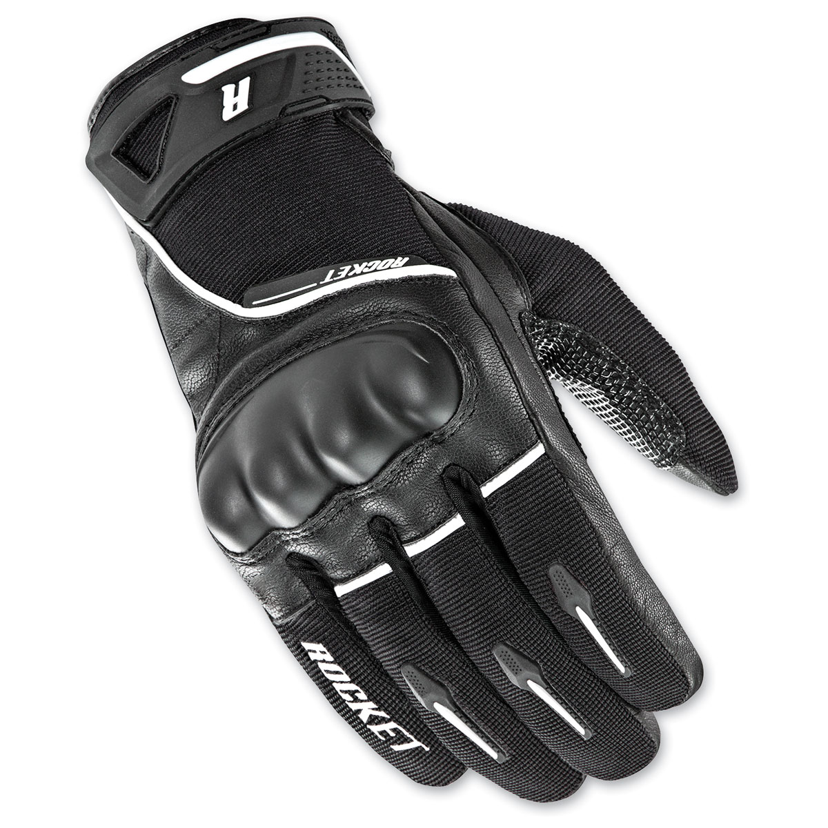 Joe Rocket Men's Super Moto Black/White Gloves