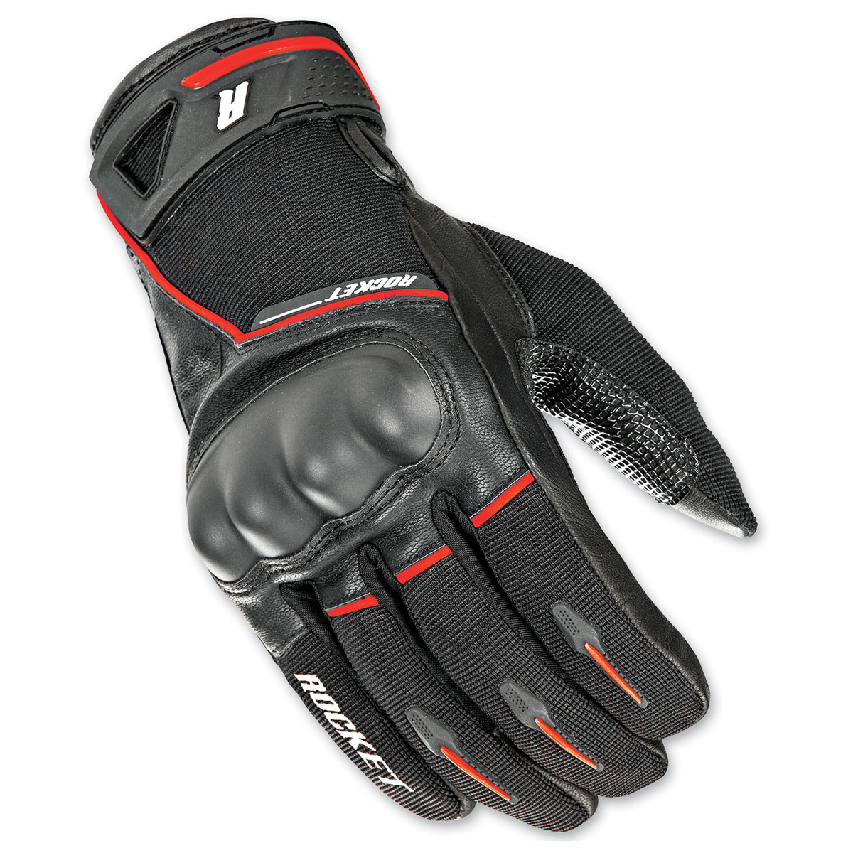 Joe Rocket Men's Super Moto Black/Red Gloves