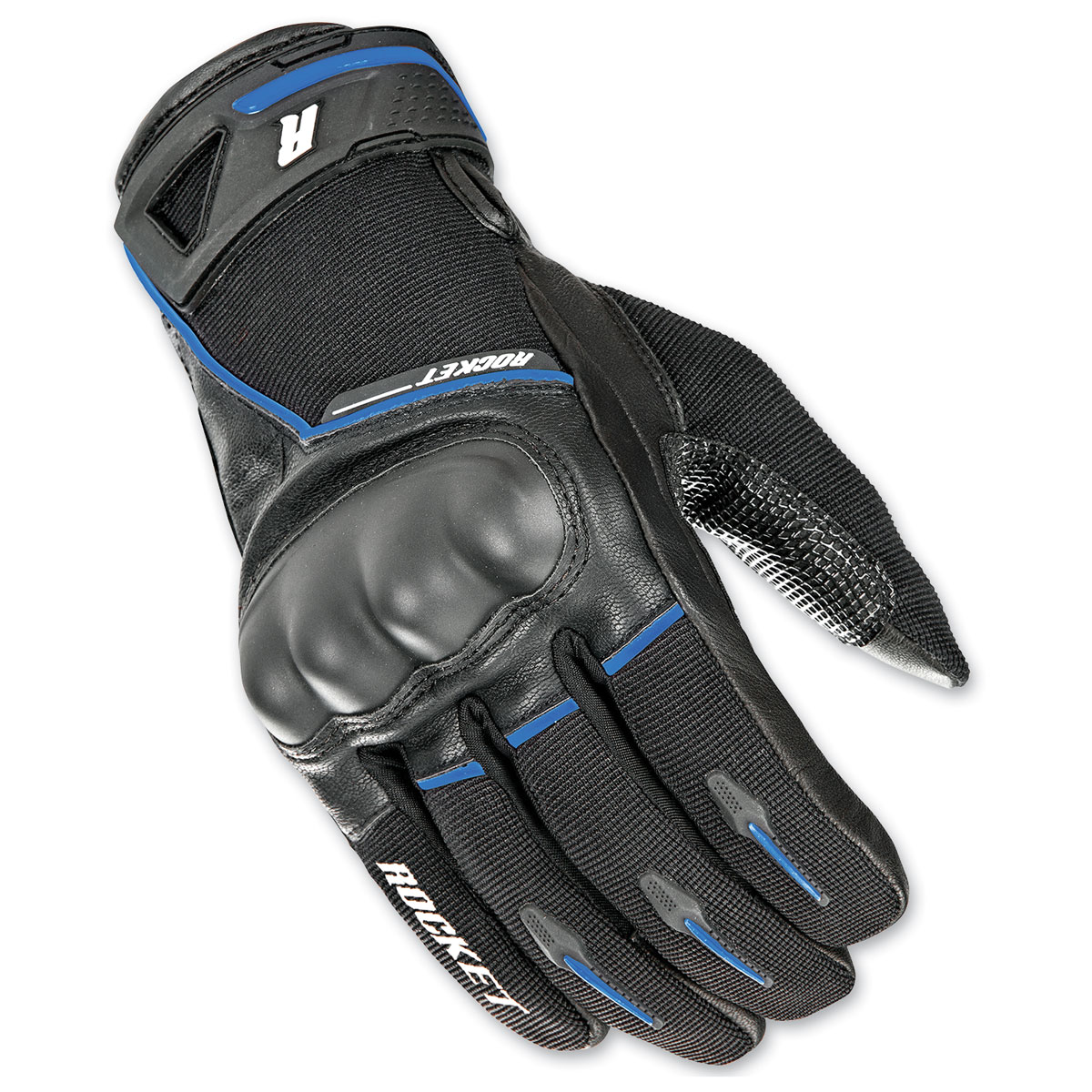 Joe Rocket Men's Super Moto Black/Blue Gloves