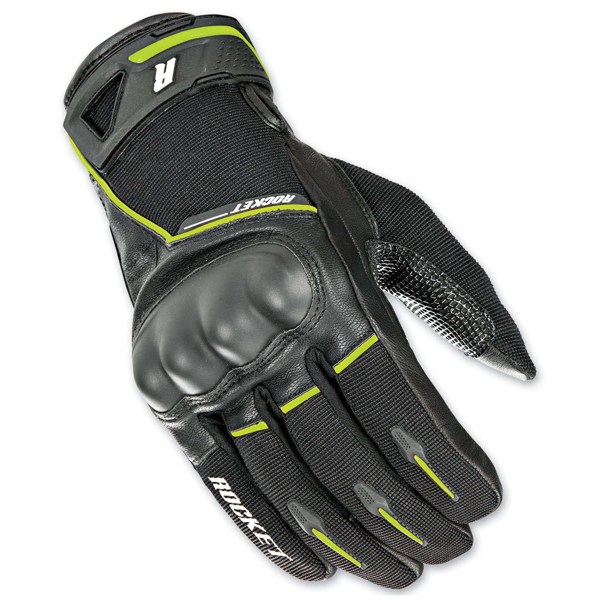 Joe Rocket Men's Super Moto Black/Hi-Viz Gloves