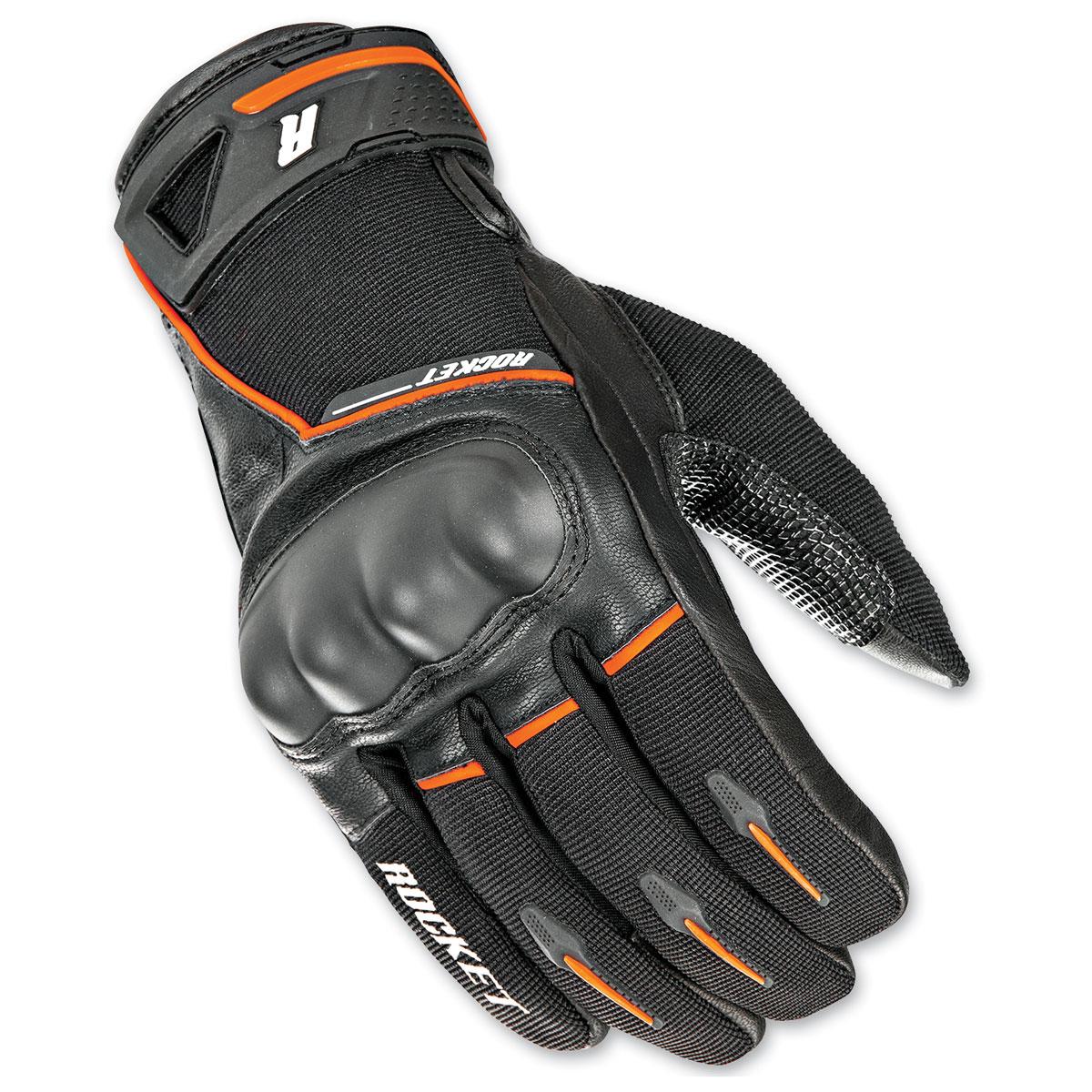 Joe Rocket Men's Super Moto Black/Orange Gloves