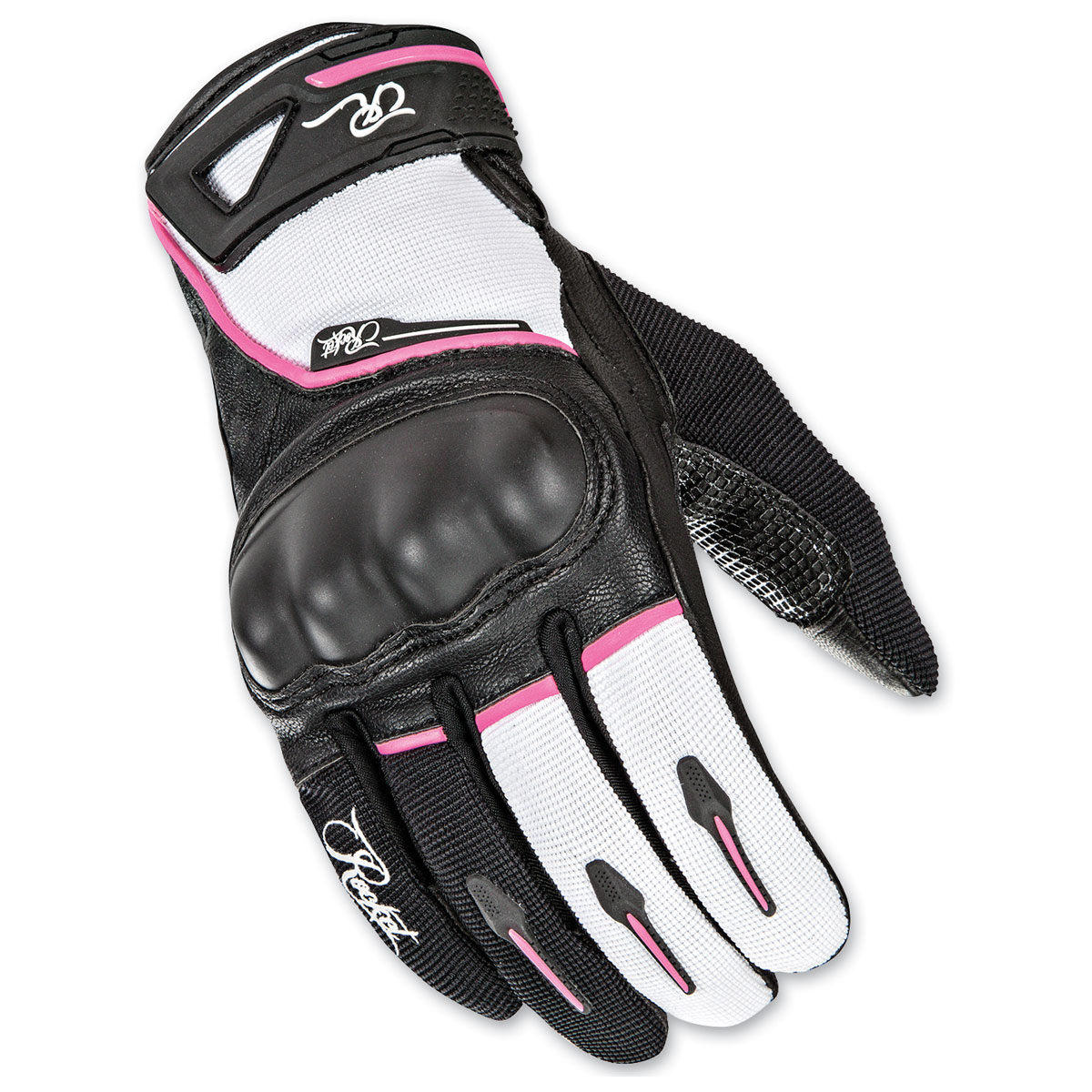 Joe Rocket Women's Super Moto Black/White/Pink Gloves