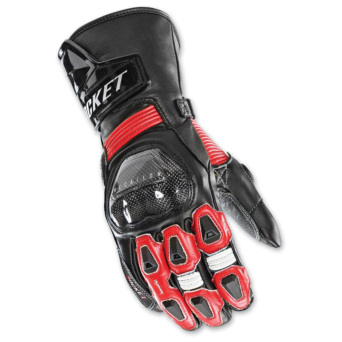Joe Rocket Men's GPX Black/Red Gloves