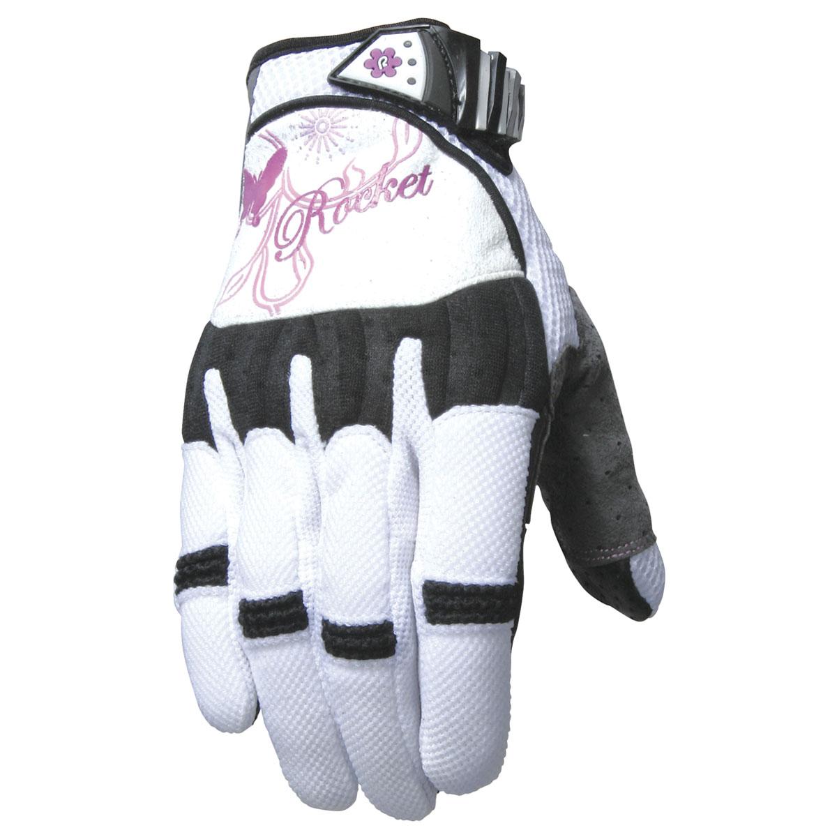 Joe Rocket Women's Heartbreaker White/Purple Gloves