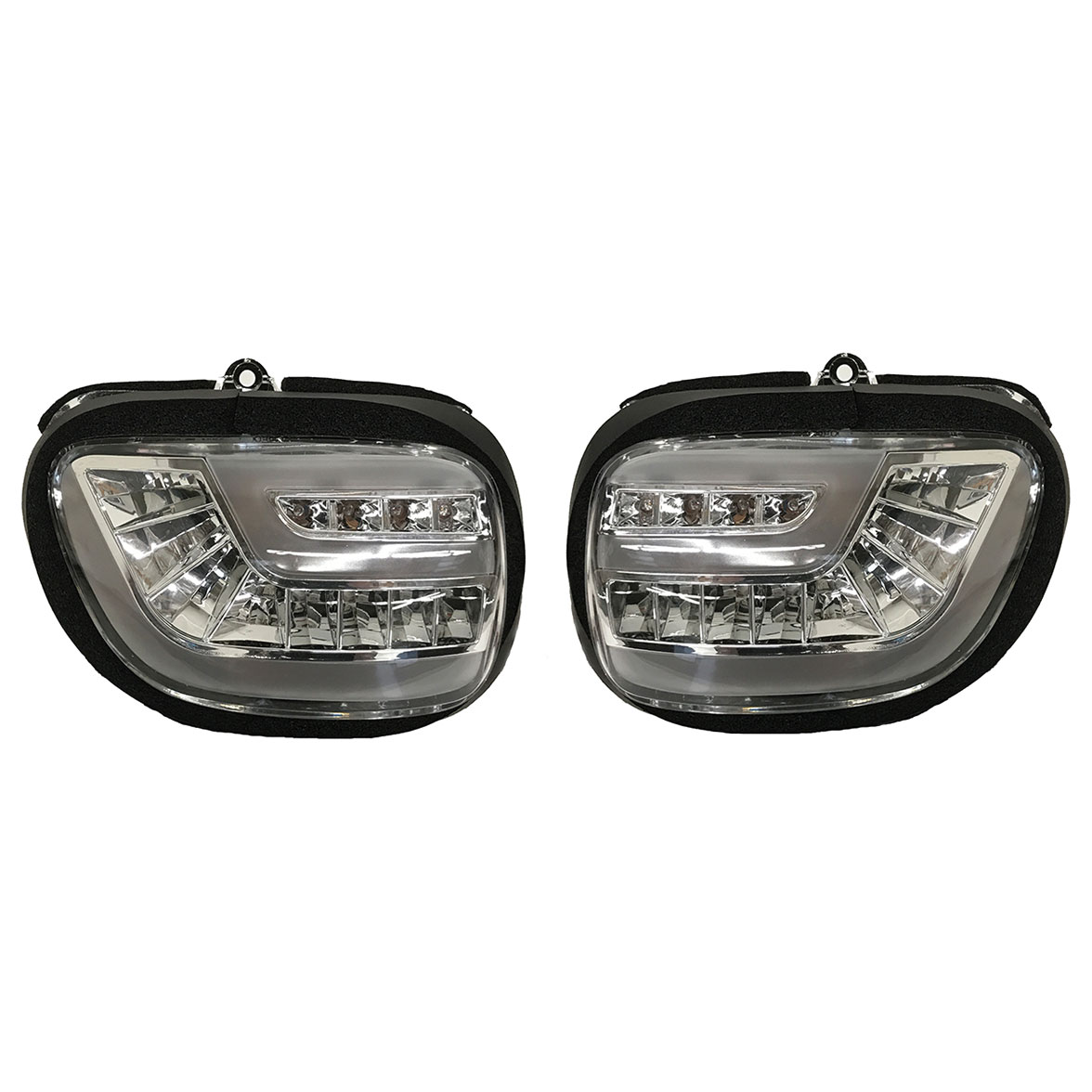 PathfinderLED Dynamic Sequential Clear LED Front Signals with Daytime Running Lights