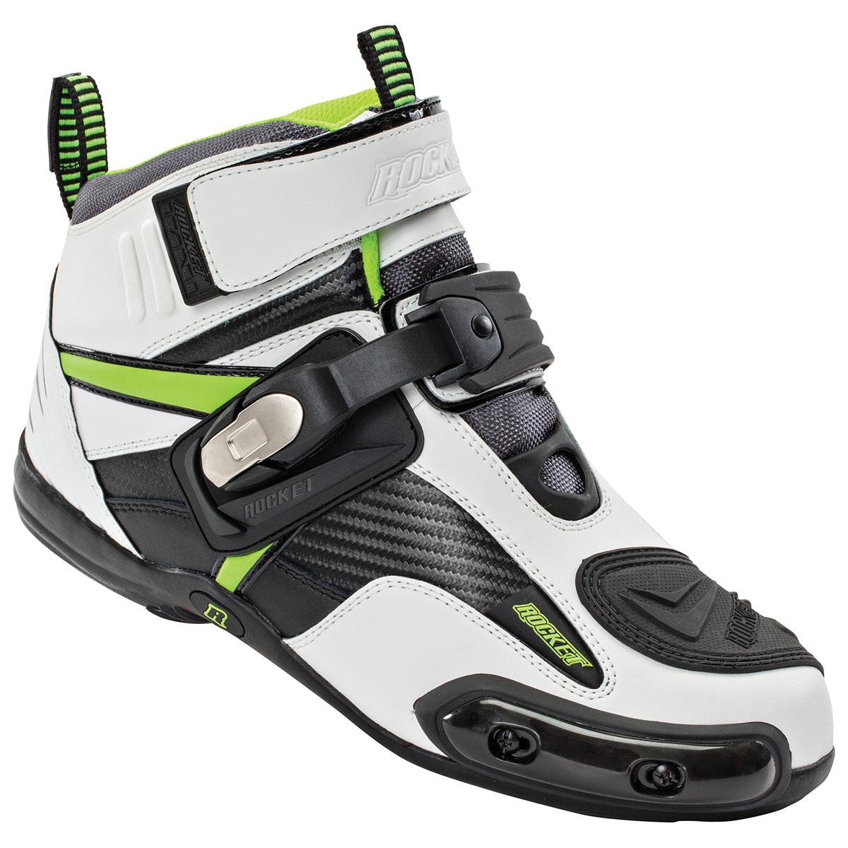 Joe Rocket Men's Atomic White/Hi-Viz Boots