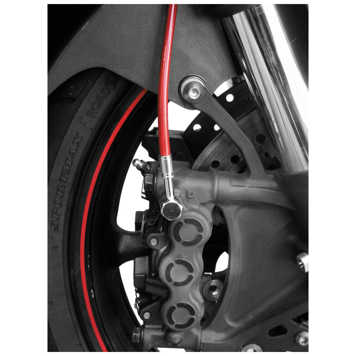 Galfer USA Red Front Brake Line