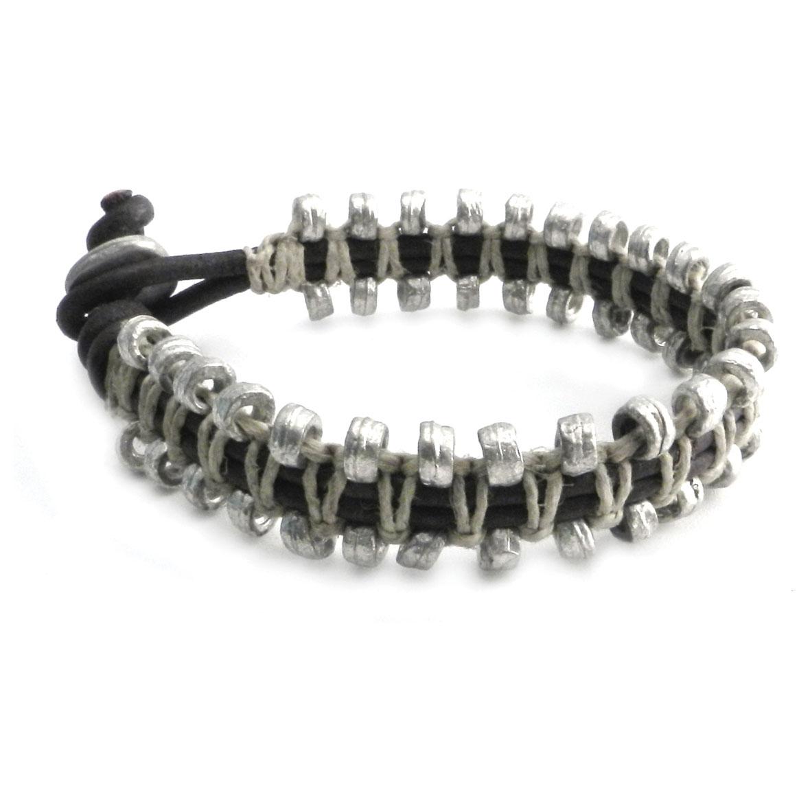 AMiGAZ Snake Chain Leather Bracelet
