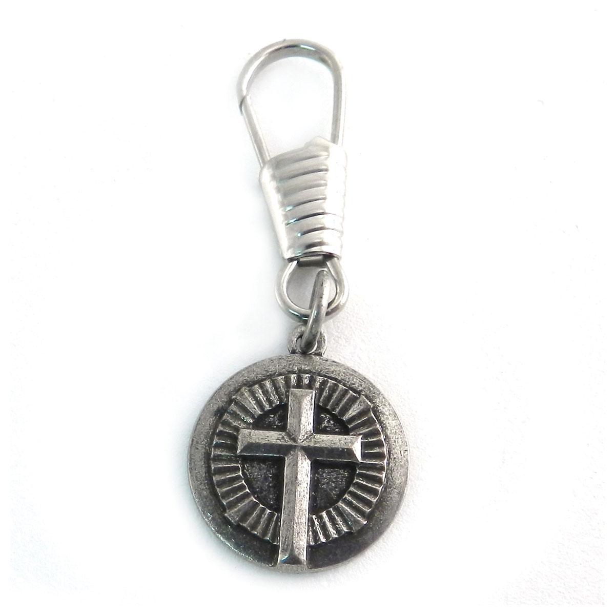 AMiGAZ Circle Cross Antique Zipper Pull
