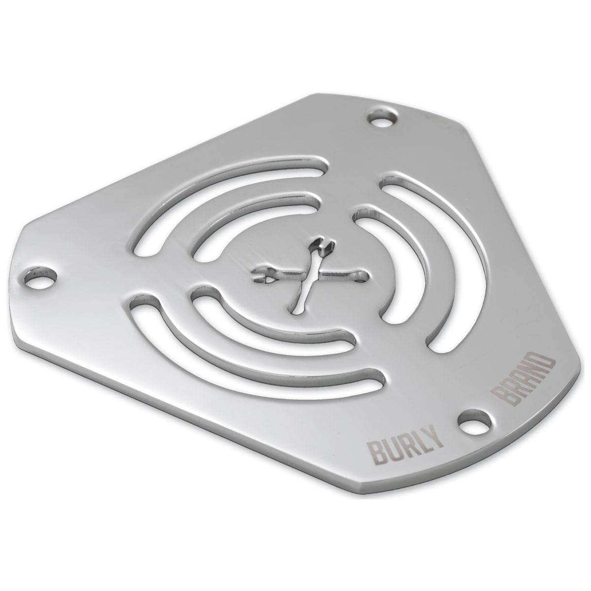 Burly Brand Chrome Wrenches Hex Air Cleaner Face Plate