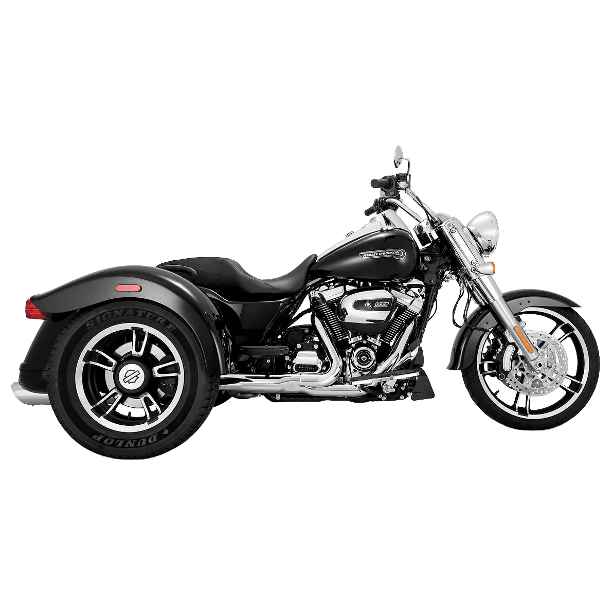 Vance & Hines Twin Slash 4″ Round Slip-Ons Chrome