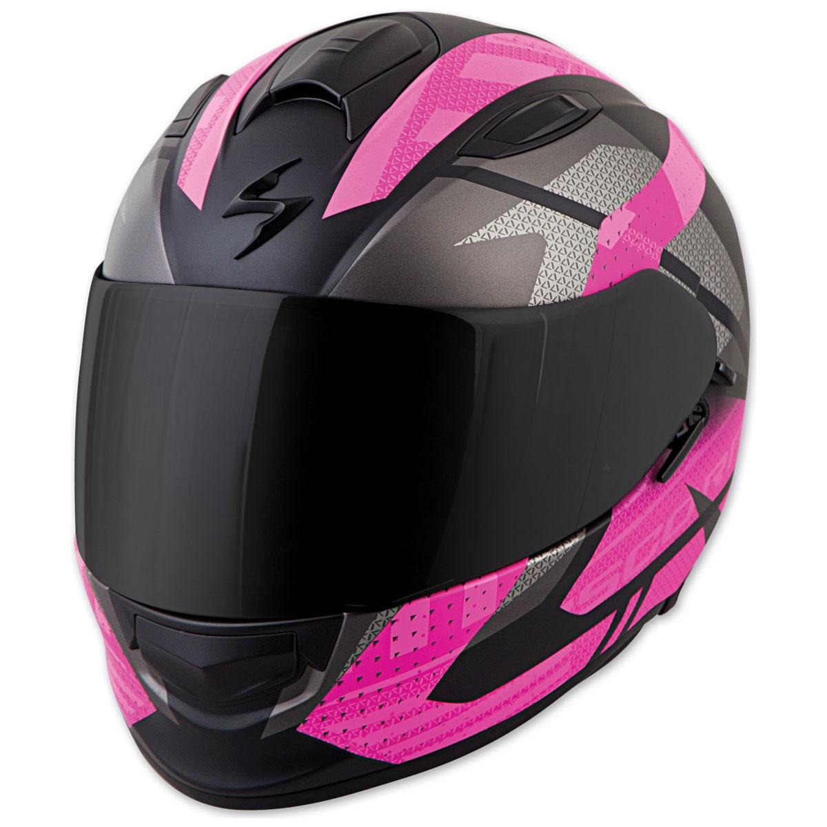 Scorpion EXO EXO-T510 Fury Black/Pink Full Face Helmet