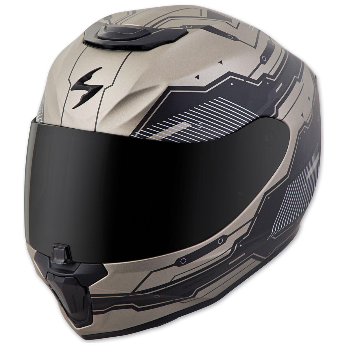 Scorpion EXO EXO-R420 Techno Titanium/Black Full Face Helmet