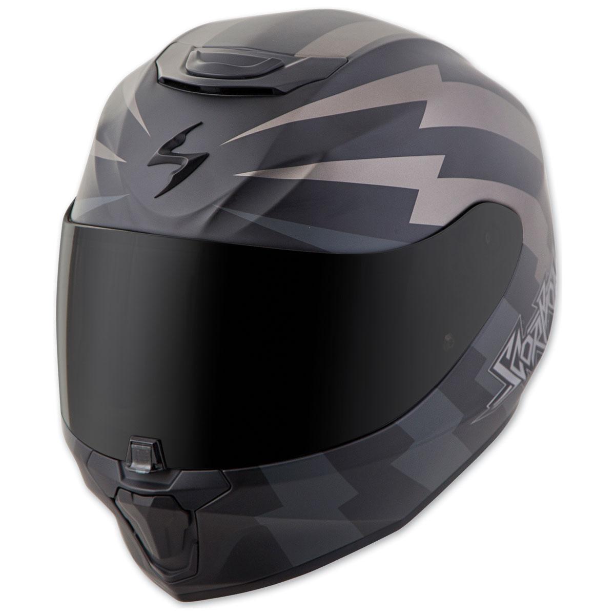Scorpion EXO EXO-R420 Tracker Titanium/Black Full Face Helmet