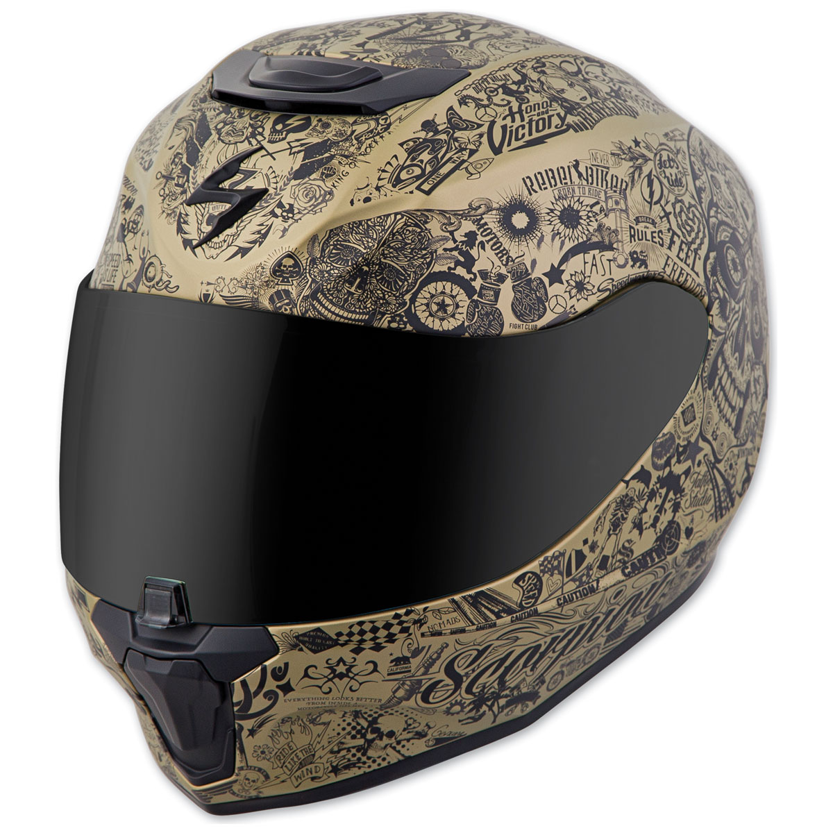 Scorpion EXO EXO-R420 Shake Gold Full Face Helmet