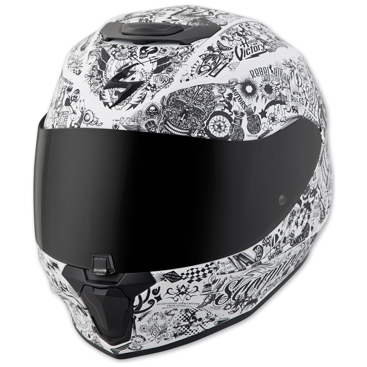 Scorpion EXO EXO-R420 Shake White Full Face Helmet
