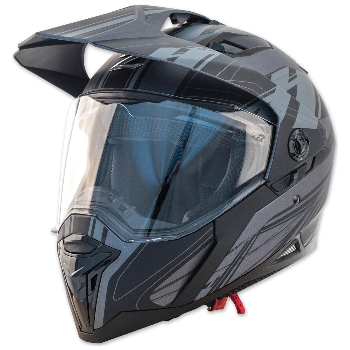 Zox Z-Series Z-DS10 Urbanite Matte Dark Silver Dual Sport Helmet