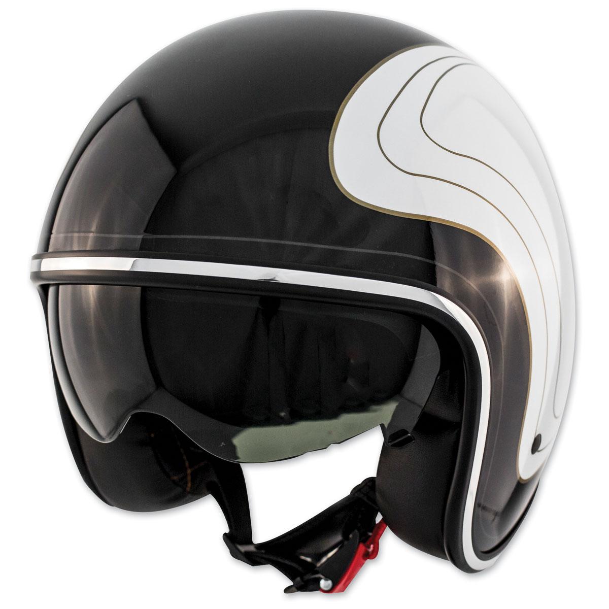 Zox Route 80 DDV Klassic Glossy White Open Face Helmet