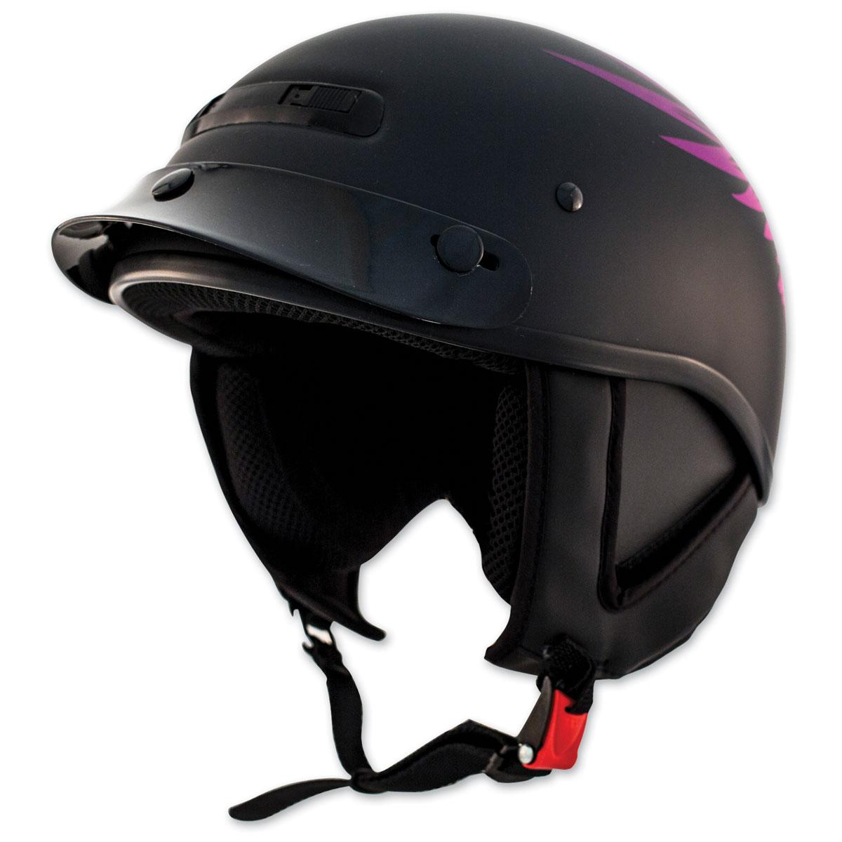 Zox Alto Custom Eagle Matte Purple Half Helmet