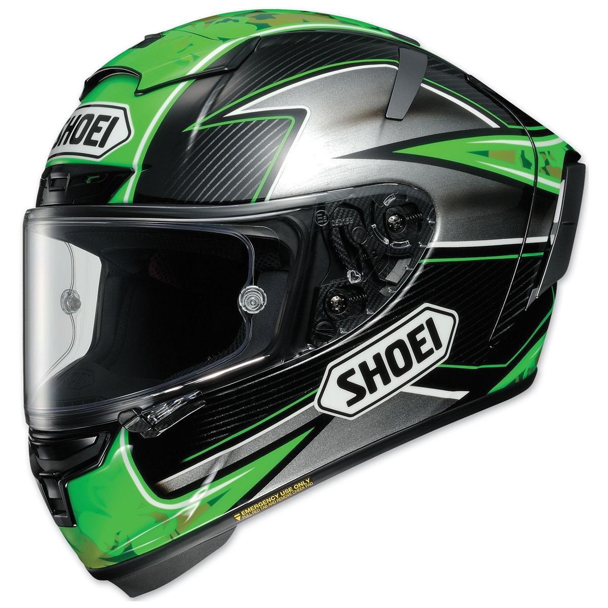 Shoei X-Fourteen Laverty Green Full Face Helmet