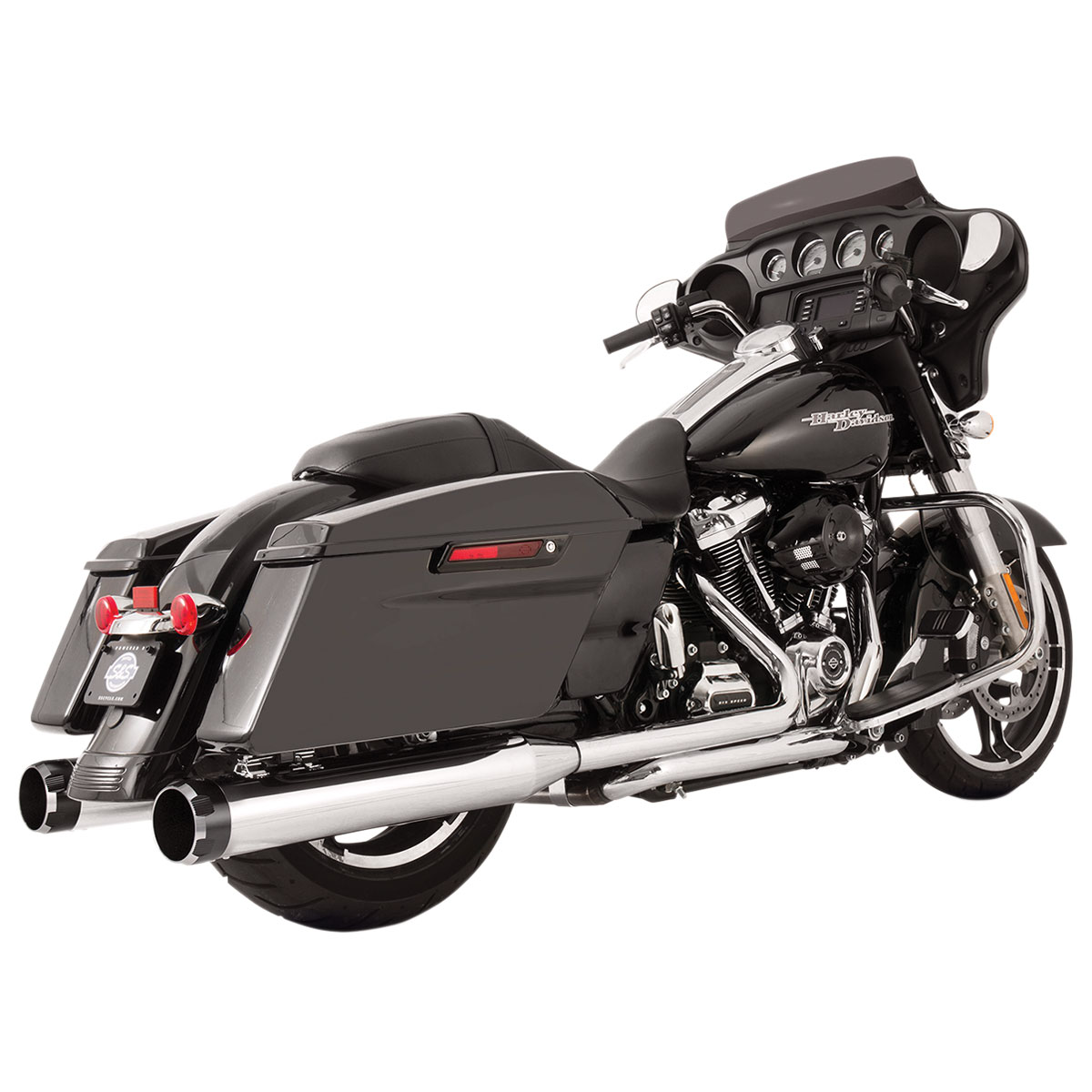 S&S Cycle MK45 El Dorado Exhaust Chrome with Thruster End Cap