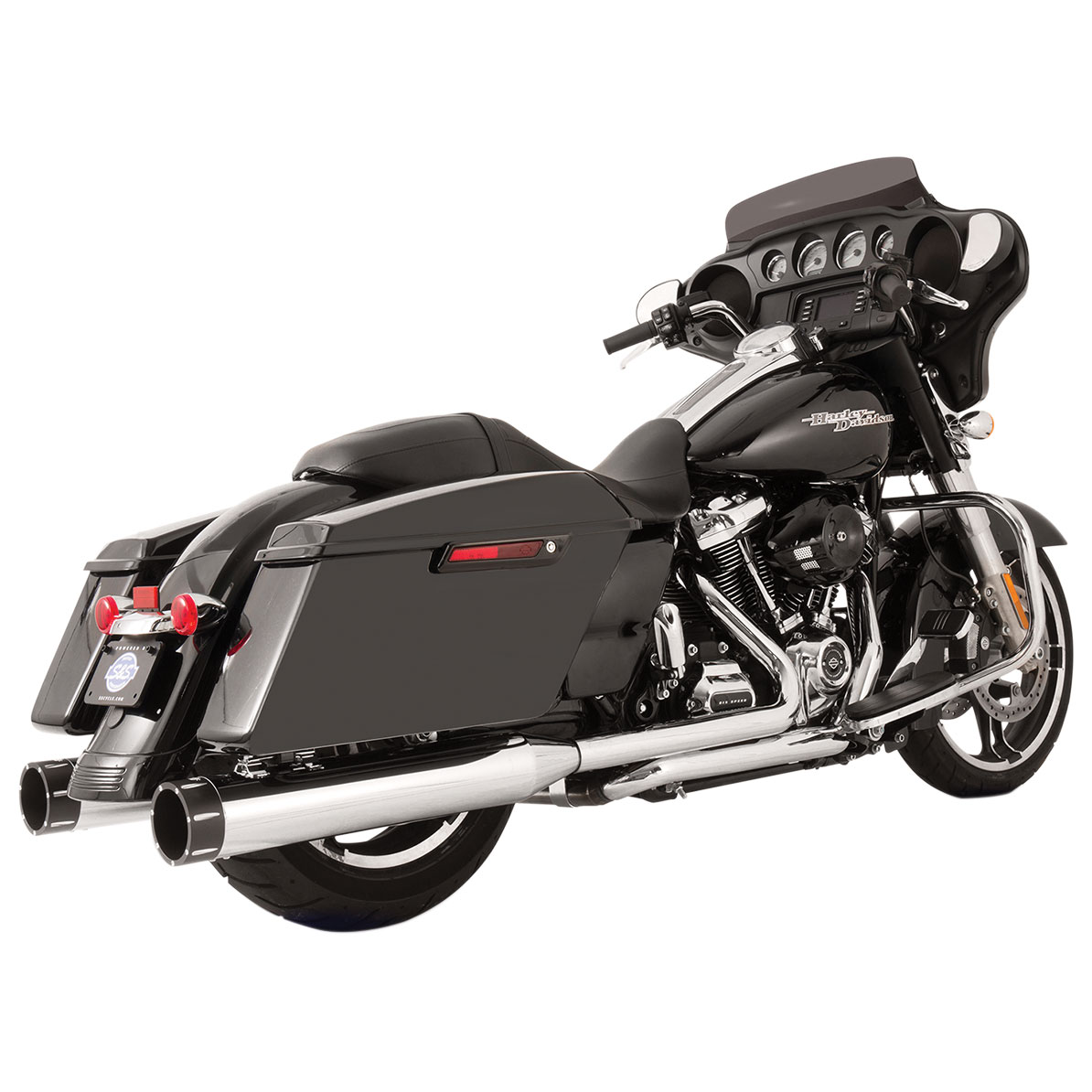 S&S Cycle MK45 El Dorado Exhaust Chrome with Tracer End Cap