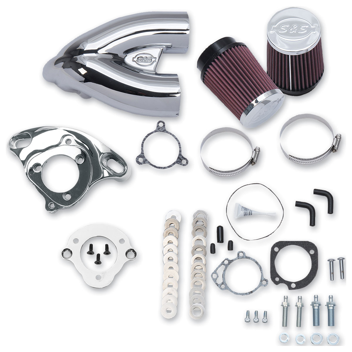 S&S Cycle Single Bore Tuned Induction Air Cleaner Kit